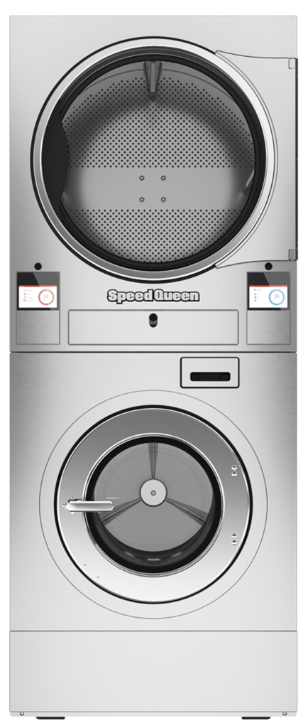 Stacked Washer-Extractor Tumble Dryer