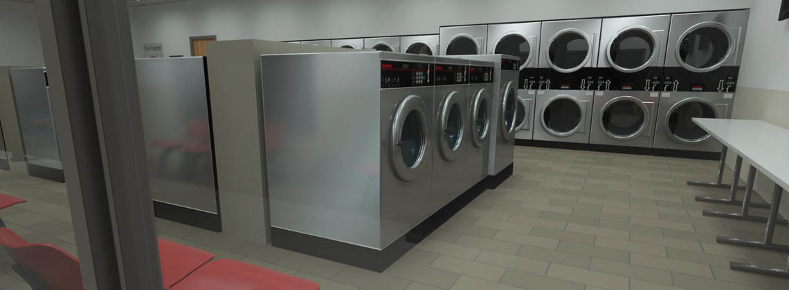 Services d'agencement de laverie