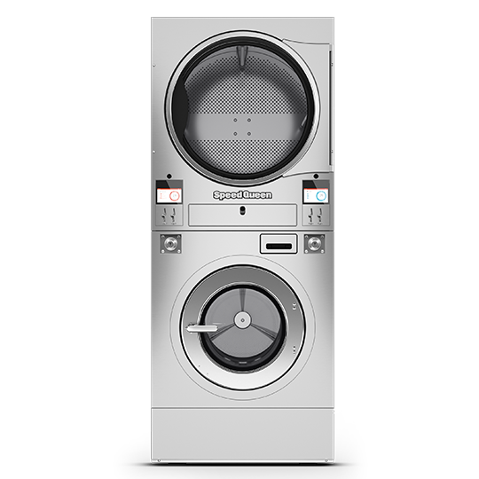 Vended Stacked Washer Extractor / Tumble Dryer